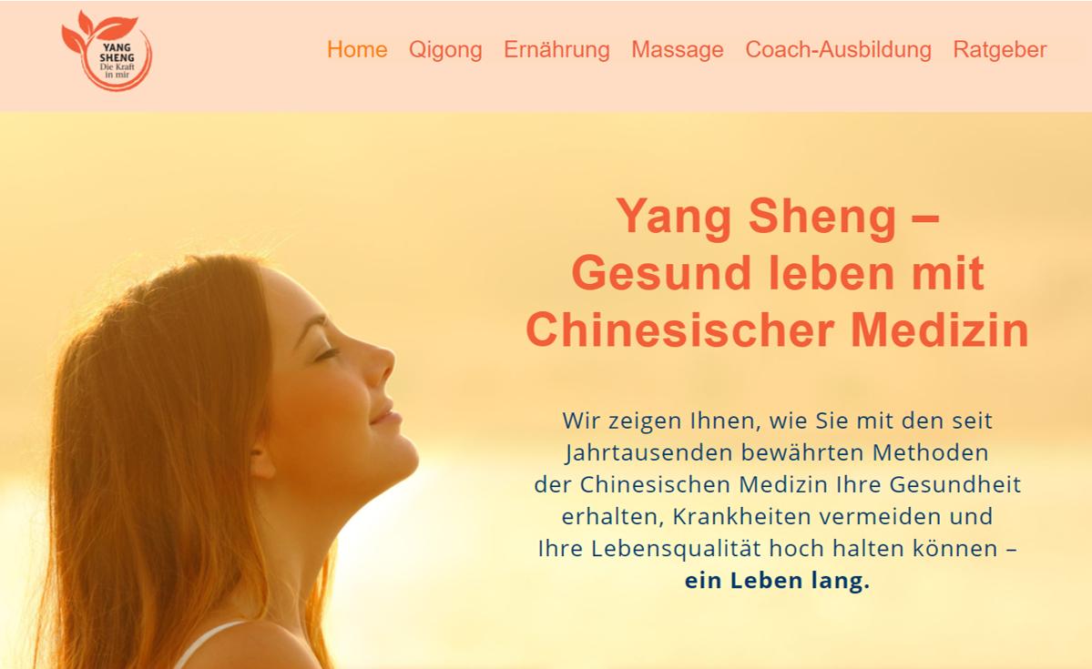 """Webseite """"Yang Sheng - Gesund leben mit Chinesischer Medizin"""""""